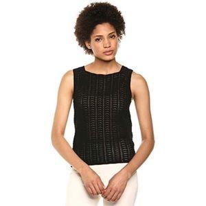 THEORY - Crochet Shell - Black - Large